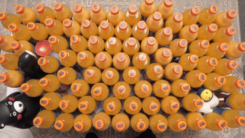 """100瓶""""果粒橙""""到底有多少果粒?过滤一下就完事了"""