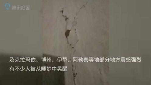 新疆塔城5.2级地震 阿西尔乡克孜贝提村房屋出现裂缝