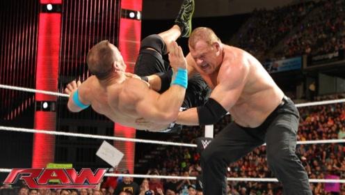 WWE塞纳被凯恩暴揍,可这还不是恶魔形态的凯恩,塞纳能逆袭吗?