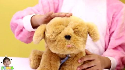 《苏菲娅玩具》按一下玩具狗狗的鼻子它会发出什么声音呢?