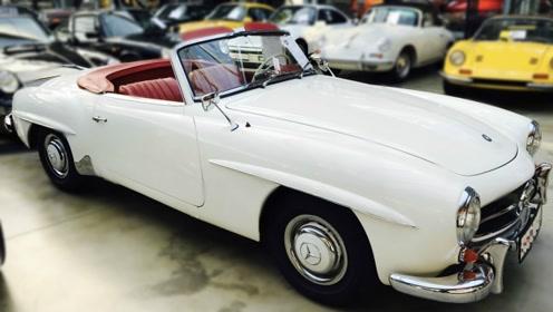 奔驰经典敞篷跑车,1958年190SL古董车