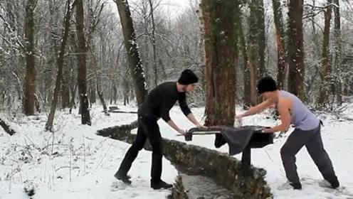 家庭主妇的熨衣板,在极限运动者这里,成了极限运动的道具!