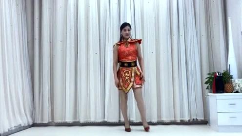 广场舞视频片段,单人无抠图