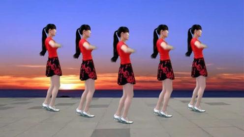 怀旧金曲广场舞《往事只能回味》节奏欢快,好听更好看!