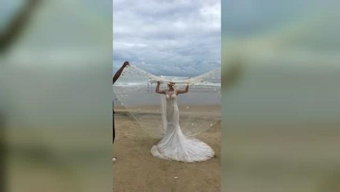 这个婚纱照真的好美