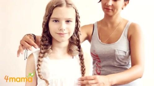 小女孩淑女可爱发型,妈妈这手也太巧了吧