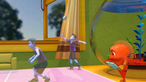 跳跳鱼世界4 第25集看点 菲乐菲宝新颖的全息排球比赛,太精彩!
