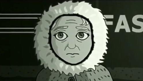 女孩午夜在公交站等车,怪物伪装成老奶奶,最后结局很美好
