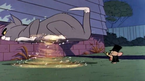 魔法师小老鼠来找杰瑞,把拦路的猫悬浮到了空中