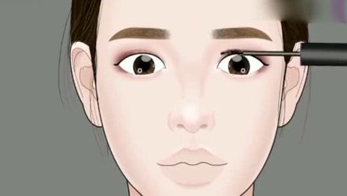女生的化妆步骤演示,这化妆技术,妆前妆后真是判若两人