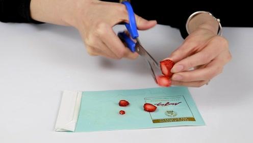 你家有烟盒吗?把草莓放上去太实用了,很多人想要却不知道
