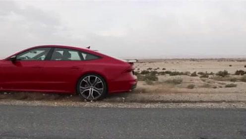 刚提的2019款奥迪A7,打开尾翼和无框车门后,感觉买值了!