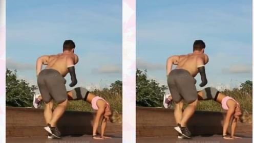 世界顶级情侣健身!能做到一个的就了不起!