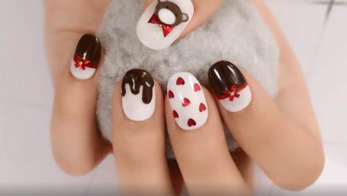 甜蜜可爱巧克力领结小熊 充满童心的你一定要Pick这款