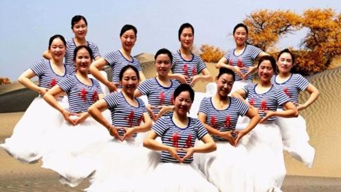 美丽蓥华广场舞《站着等你三千年》舞台版12人变队形图片