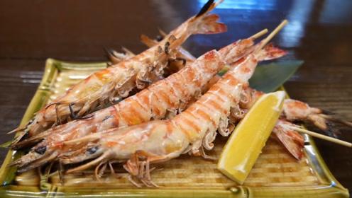 椒盐烤虾味道真不错,皮酥肉嫩嘎嘣脆,虾头也能吃,加柠檬汁鲜美