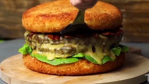 超级巨无霸芝士牛肉汉堡,你心动了吗?