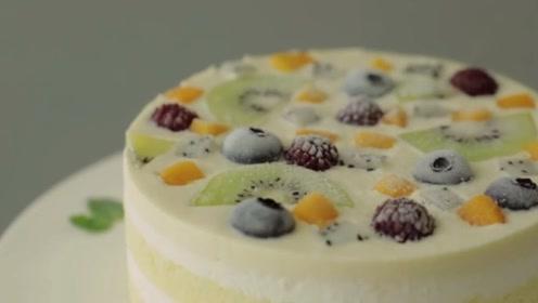 夏日水果冰蛋糕 入口瞬间冰爽透心