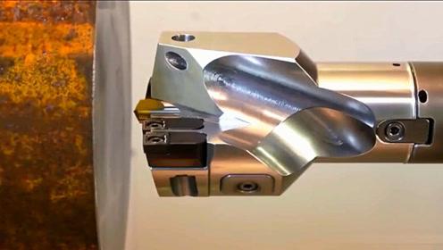 德国机床加工技术,第一次见这样的钻头,削铁如泥就是如此吧!