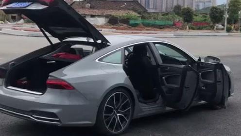 """新买的奥迪A7,秀一下""""大鹏展翅"""",外观内饰都很酷的一辆车"""