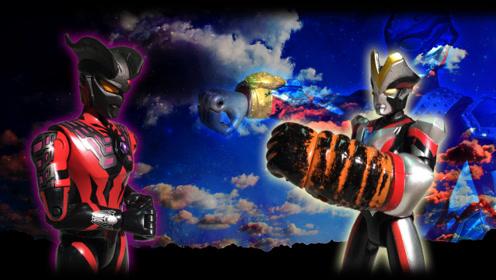 银河奥特曼与维克特利奥特曼,两个合力对抗黑暗赛罗