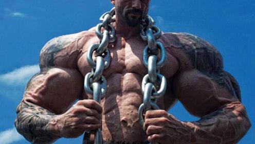 健美界老牌肌肉野兽,体重268斤,腿围89厘米
