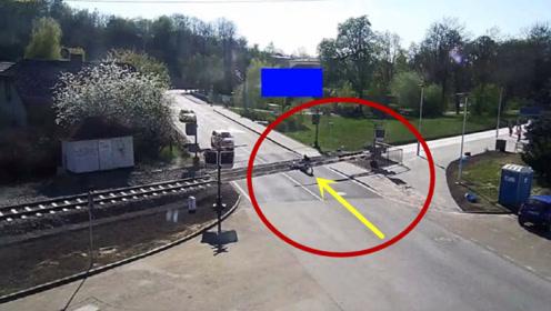 老人骑车过铁路道口发生意外,看完全程,才知真相不简单