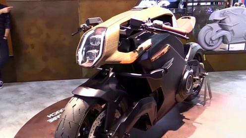 英国打造电动摩托超跑,输出130匹极速直飚200,咋没仪表盘