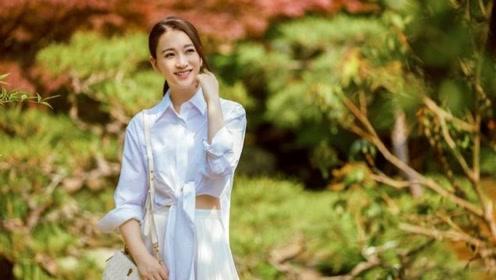李小冉也太会保养了,43岁穿白衬衫渐变裙,美得像精灵一样