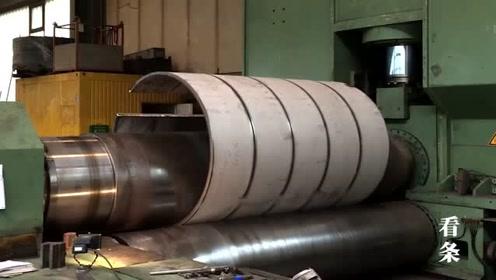 工厂里的那些大型压曲机怎么工作,原来大圆钢都是这么来的