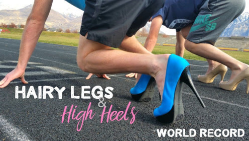 穿高跟鞋跑步是种什么体验?小伙亲自上阵,下一秒忍住别笑!