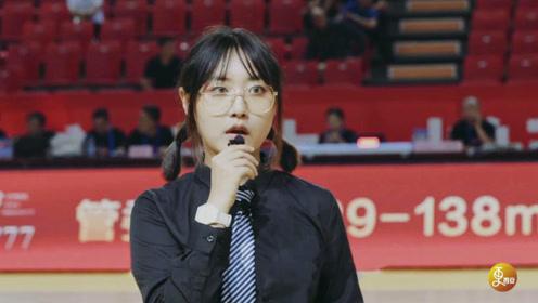 陕西篮球赛场上惊现高颜值女MC,优秀的她竟然不是篮球专业出身