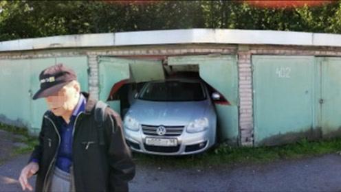 女司机停车眼看要成功,没想到下一秒就把车怼进墙里