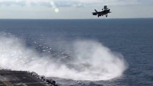 """实拍F-35舰载机玩半空悬停,一个字""""牛"""""""