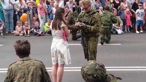 俄罗斯特种兵的硬核求婚,太浪漫了