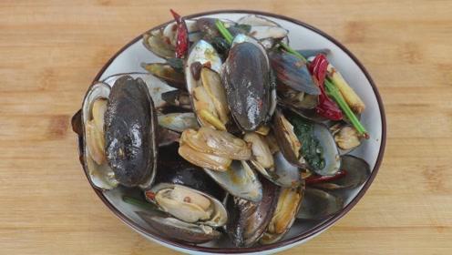 河蚌好吃有技巧,多加一步,不腥不碜,难怪饭店卖的这么好吃!