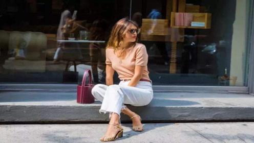 夏天穿高腰透气阔腿裤,遮肉显身材,美出新高度