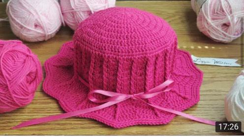钩针编织时尚的帽子教程,爱编织的你一看就会