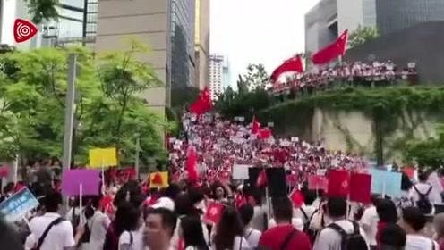 香港旅游界举行集会,约4500人参加齐唱国歌