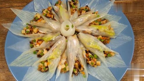 白菜的高大上做法,喜欢蒸菜的,包你一盘全扫光