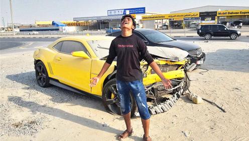 小伙在迪拜捡垃圾,捡到这辆跑车时,忍不住仰天长啸!