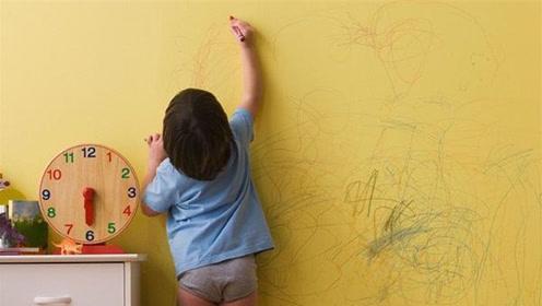 孩子在家乱涂乱画,还被骂没有教养?宝妈一招搞定,所有人都夸赞
