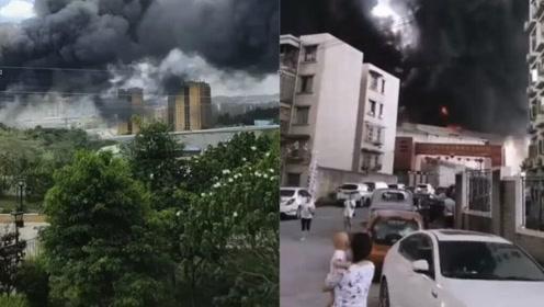 烟尘蔽日、浓烟滚滚!贵阳老干妈厂区再发火灾:无人员受伤