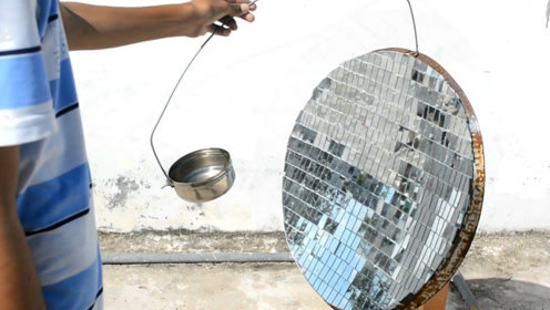 """牛人自制""""太阳能""""炉子,不用电不用气,20元就能造一台"""