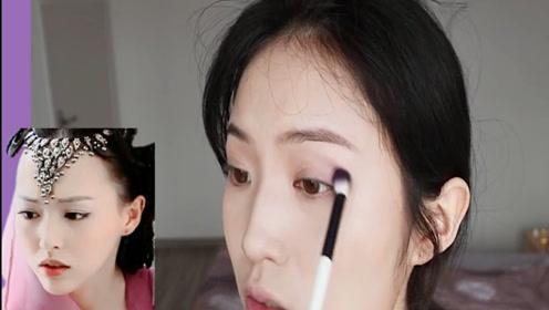 仙剑3紫萱仿妆:素人小姐姐妆后戴上头饰,简直神还原!