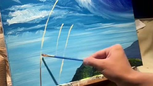 高手笔下的油画,意境唯美,愿你千山涉尽,归来仍是少年