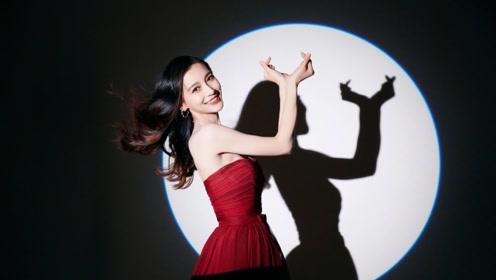 """Angelababy化身美少女战士 红裙造型大秀""""蚂蚁腰"""""""