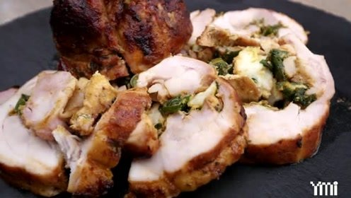 美味的烤鸡肉卷,口味好吃到爆的烧烤季美食,西餐就是这么简单