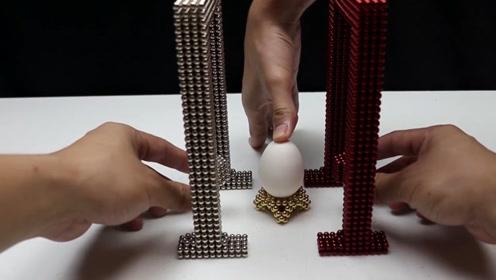 用两个巴克球做的铁锤撞击鸡蛋,接触瞬间鸡蛋就裂开缝,这是为何