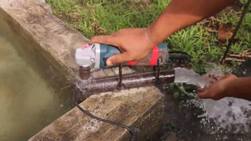 """24岁小伙发明""""切割机""""抽水机,一小时抽5吨水,50元做一把"""